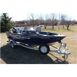 2013 Polar Kraft 16' Boat W/ Evinrude 60 E-Tak Motor, Polarkraft Trailer And Cover