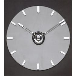 KIENZLE WALL CLOCK, 1930s crystal, chrome-