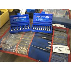 SAE HEX & METRIX HEX SETS, AND WESTWARD PUNCH AND CHISEL SET