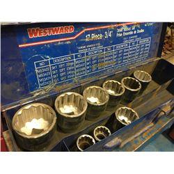 2 WESTWARD SOCKET SETS