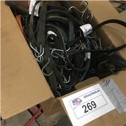 BOX OF RUBBER TIE DOWNS