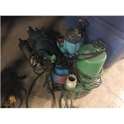 4 ELECTRIC SEWAGE PUMPS