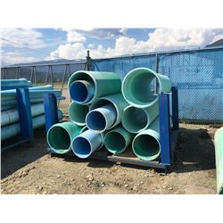 LOT OF SDR PIPE WITH BLUE STEEL RACK
