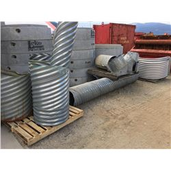 LOT OF ASSORTED CULVERTS AND CULVERT CLAMPS