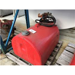 RED FUEL TIDY TANK WITH PUMP