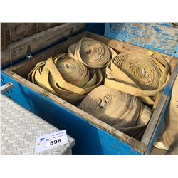LOT OF LAY FLAT WATER HOSE IN CRATE