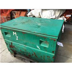 GREEN METAL JOB BOX