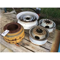PALLET OF ASSORTED TRUCK RIMS