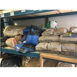 LOT OF FILTER SAND, GROUT AND MORE