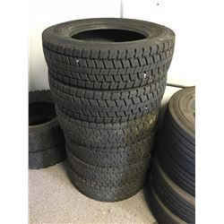 6 CONTINENTAL 225/70R19.5 TIRES