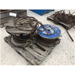 2 SPOOLS OF WIRE ROPE