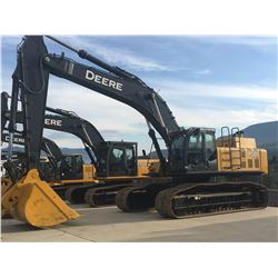 2008 JOHN DEERE MODEL 450D LC EXCAVATOR COMPLETE WITH HYDRAULIC QUICK COUPLER, CLEAN UP BUCKET AND