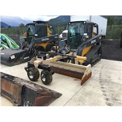 2012 JOHN DEERE 323D HIGH TRACK SKID STEER LOADER WITH TOPCON GPS CONTROLLED GRADING BOX, AND