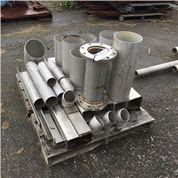 ASSORTMENT OF STAINLESS STEEL INVENTORY AND FITTINGS