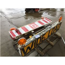 ASSORTMENT OF WIDE LOADS LUMINATED SIGNS