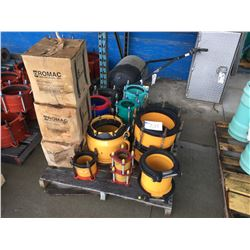 3 PALLETS OF NEW INVENTORY ROBAR AND 1 PALLET OF ROMAX COUPLINGS
