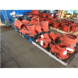 3 PALLETS OF ASSORTED SIZE VALVES, MOSTLY NEW