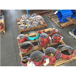 2 PALLETS OF PIPE SERVICE SADDLES