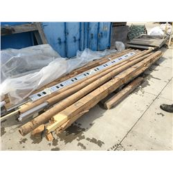 PALLET OF ASSORTED ALUMINUM FRAMING PIECES AND FLASHING