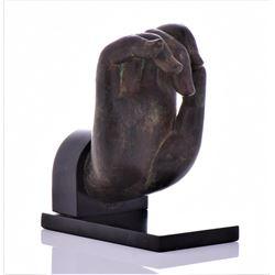17Th Century Very Large Thai Solid Bronze Buddha