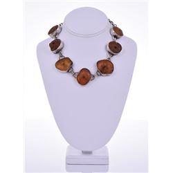 Jean Smith, Natural Amber 99.9 Percent Fine Silver