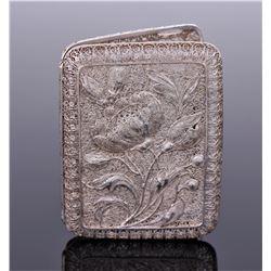 Art Nouveau Sterling Silver Filigree Cigarette Case