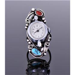 Justin Morris, Navajo Rare Signed Vintage Watch