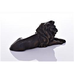 Vintage Bronze Lion.