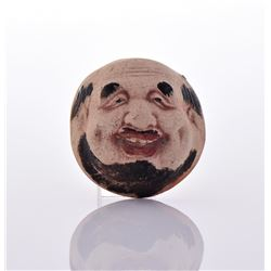 Chinese Hand Painted Miniature Clay Face.