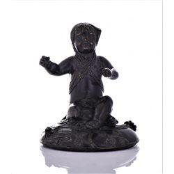 Antique Eastern European Heavy Bronze Sculpture