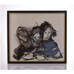 Gino F. Hollander, 1924-2015, An Original 1971 Oil