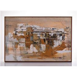 Gino F. Hollander, 1924-2015, An Original 1977 Oil