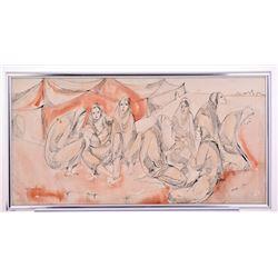 Moshe, 20Th Century Israeli Artist, An Original