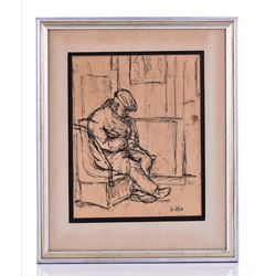 Ted Jaslow Signed, Listed New York City Artist, Or