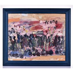 Purvis Young, American, Original Painting of An