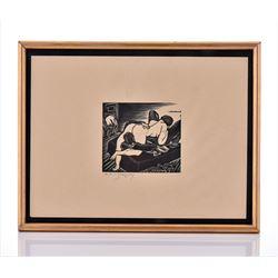 E.M. Washington, 1927 Pencil Signed And Dated, Nude