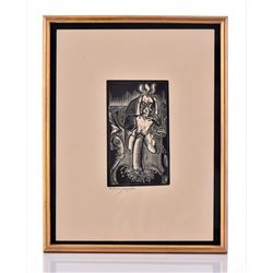 E.M. Washington, 1941 Pencil Signed And Dated, Nude