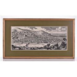 Matthaus Merian Map, Listed Artist,(1593-1650)