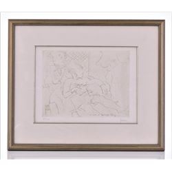 Jay Levine, Listed Artist Etching, Low Edition 34
