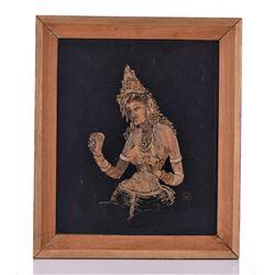 Original Artist Monogramed Signed Woodcut Collage
