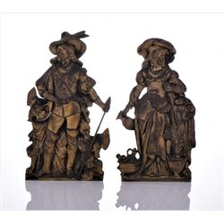 Two French Antique Metal Book Ends.