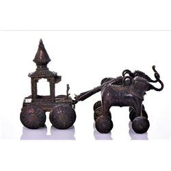Rare Antique Bronze Jagannath Temple toy of a