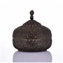 Indian Antique Hand Crafted Engraved Metal Chapati