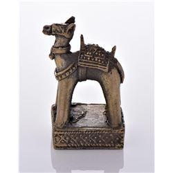 Vintage Indian Brass Foot Scraper Depicting A