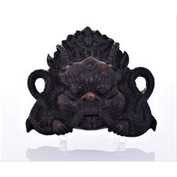 Indonesian Dragon Sculpture Made From A Heavy