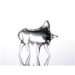 Orello, Murano Art Glass Toro Bull, Signed Murano