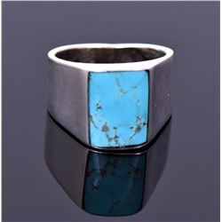 Chimney Butte, Southwest Blue Turquoise Sterling