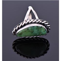 Native American Southwest Green Turquoise Ring