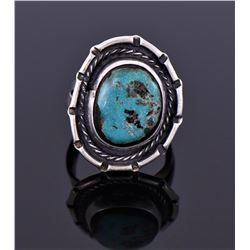 Native American Blue Turquoise Sterling Ring