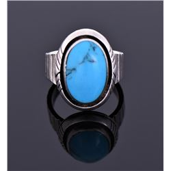 Sterling Blue Turquoise Ring